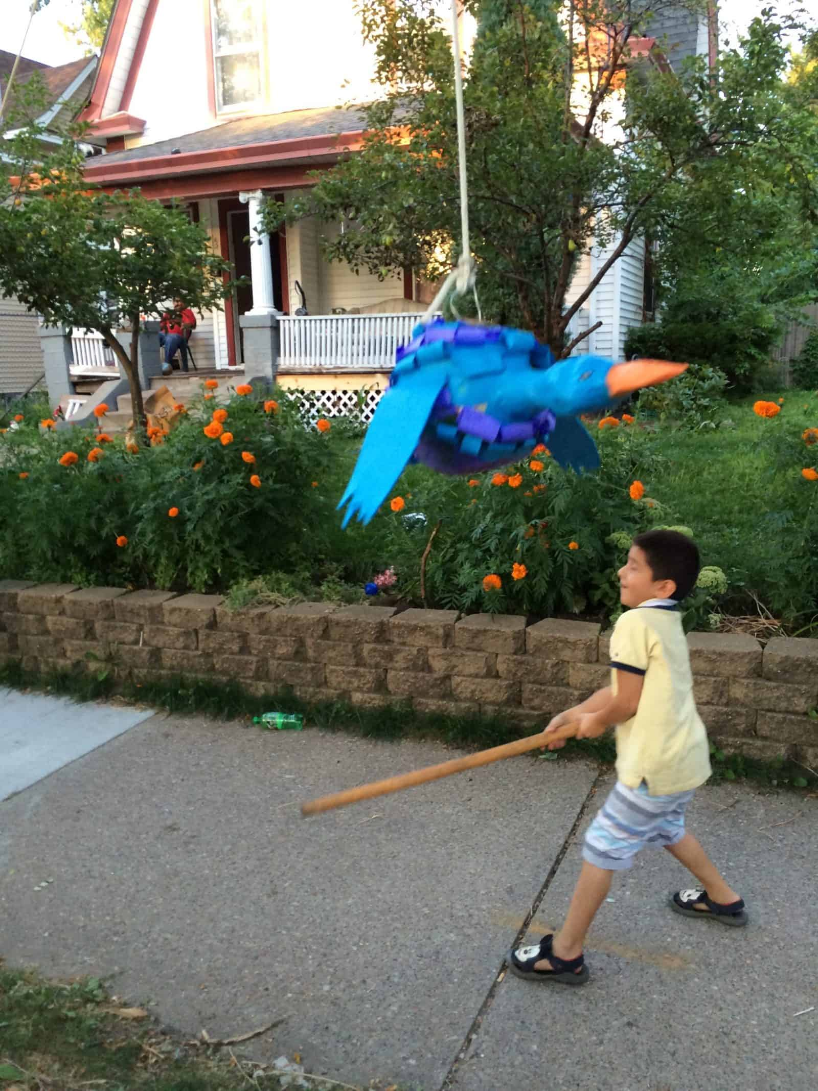 The pinata we break at National Night Out in our neighborhood.
