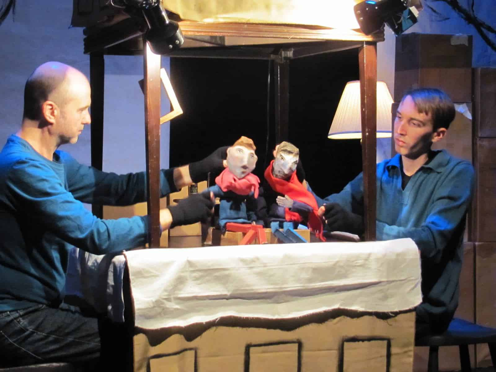 Us performing a puppet show.